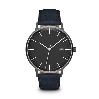 Men's The Minimalist Watch - Grey Dial, Gunmetal/Navy - LIMITED EDITION / 38mm