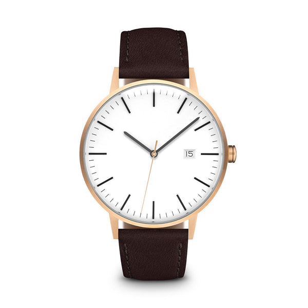 Men's The Minimalist - Rose Gold/Mocha