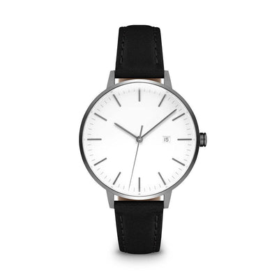 Women's The Minimalist Watch - Gunmetal/Black / 34mm