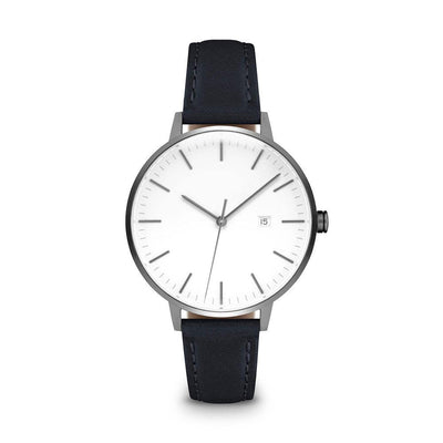 Women's The Minimalist Watch - Gunmetal/Navy / 34mm