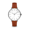 Women's The Minimalist Watch - Gunmetal/Tan / 38mm