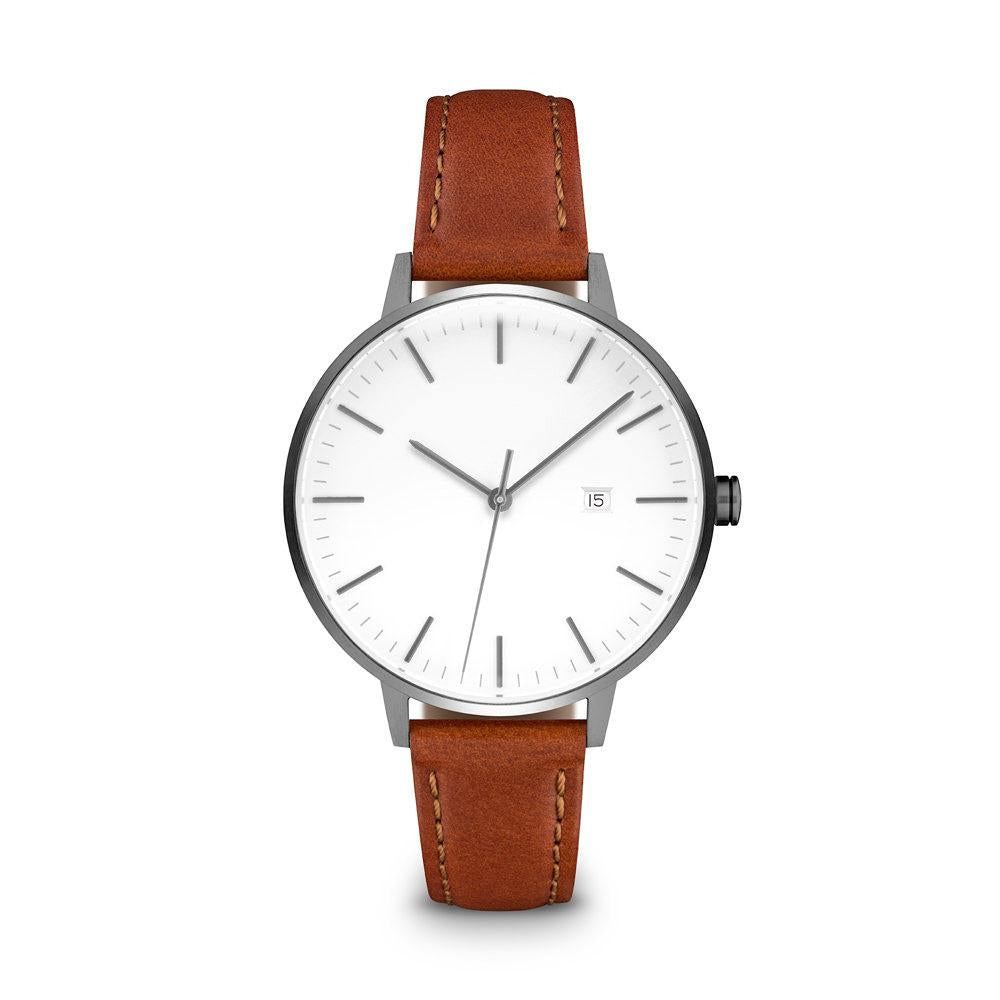contemporary strap newgate tan minimalist ladies gold watch case watches radial front atom leather