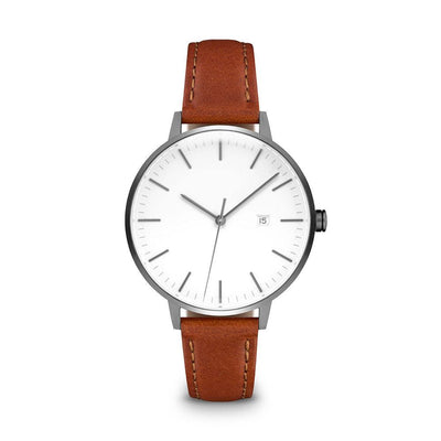 Women's The Minimalist Watch - Gunmetal/Tan / 34mm