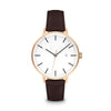 Women's The Minimalist Watch - Rose Gold/Mocha / 38mm