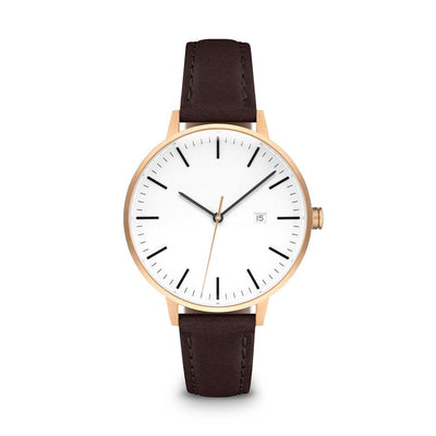 Women's The Minimalist Watch - Rose Gold/Mocha / 34mm