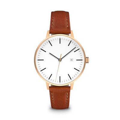Women's The Minimalist Watch - Rose Gold/Tan / 34mm