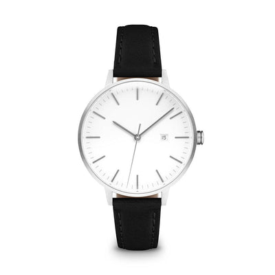 Women's The Minimalist Watch - Silver/Black / 34mm