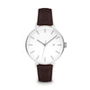 Women's The Minimalist Watch - Silver/Mocha / 34mm