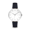 Women's The Minimalist Watch - Silver/Navy / 38mm