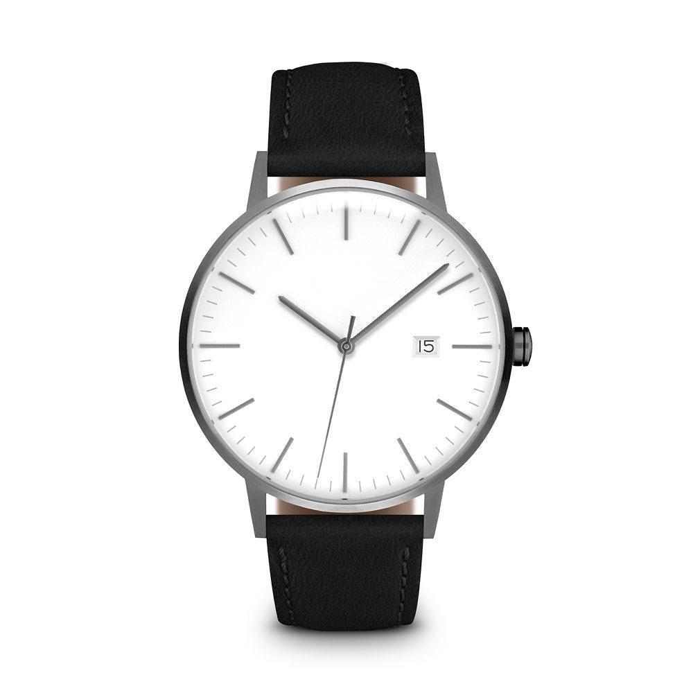 calvin dial index en unisex watch collection watches leather silver klein case grey strap mm ck black minimal steel