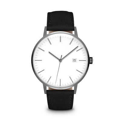 Men's The Minimalist Watch - Gunmetal/Black / 38mm