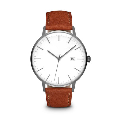 Men's The Minimalist Watch - Gunmetal/Tan / 38mm
