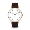 Men's The Minimalist Watch - Rose Gold/Mocha / 41mm