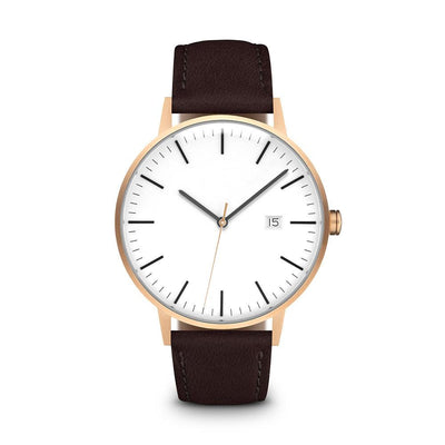 Men's The Minimalist Watch - Rose Gold/Mocha / 38mm