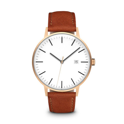Men's The Minimalist Watch - Rose Gold/Tan / 38mm