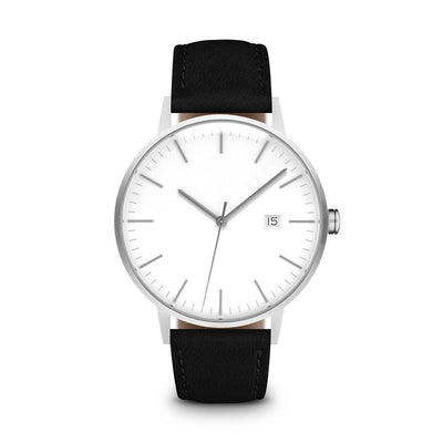 Men's The Minimalist Watch - Silver/Black / 38mm