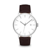Men's The Minimalist Watch - Silver/Mocha / 41mm