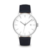 Men's The Minimalist Watch - Silver/Navy / 38mm