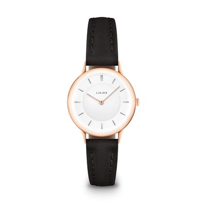 The Petite Watch - Rose Gold/Black