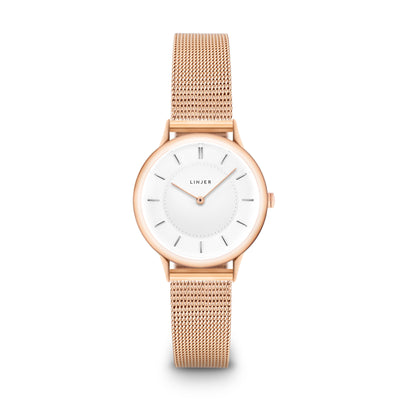 The Petite Watch - Mesh - Rose Gold