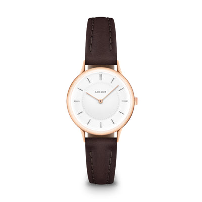 The Petite Watch - Rose Gold/Mocha