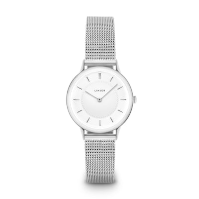 The Petite Watch - Mesh - Silver