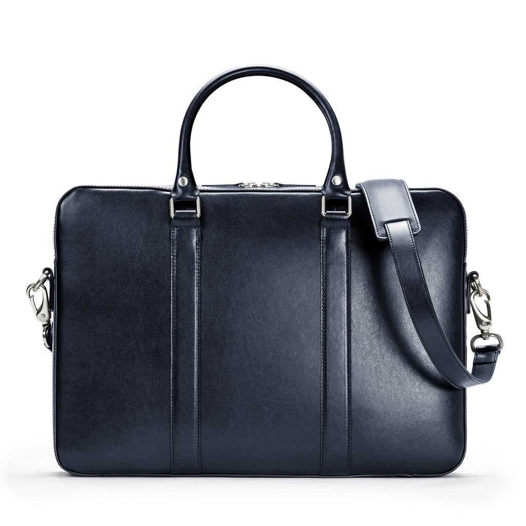 e079430da6 Home › Men s Leather Bags › The Soft Briefcase. Best Seller. Navy