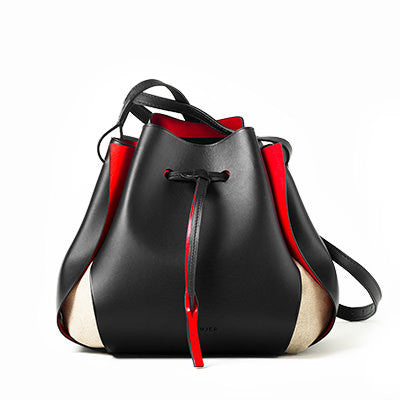 The Tulip Bag, Black/Red, thumbnail