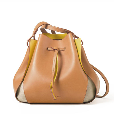 The Tulip Bag - Natural/Yellow