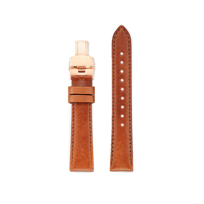 Watch Strap for The Automatic - Rose Gold/Tan