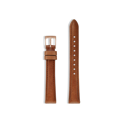 Women's Watch Strap for The Classic Watch - Rose Gold/Tan / 34mm