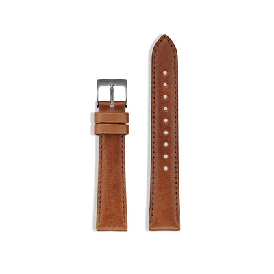 Men's Watch Strap for The Classic Watch - Gunmetal/Tan / 38mm