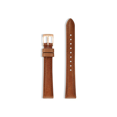 Watch Strap for The Petite - Rose Gold/Tan