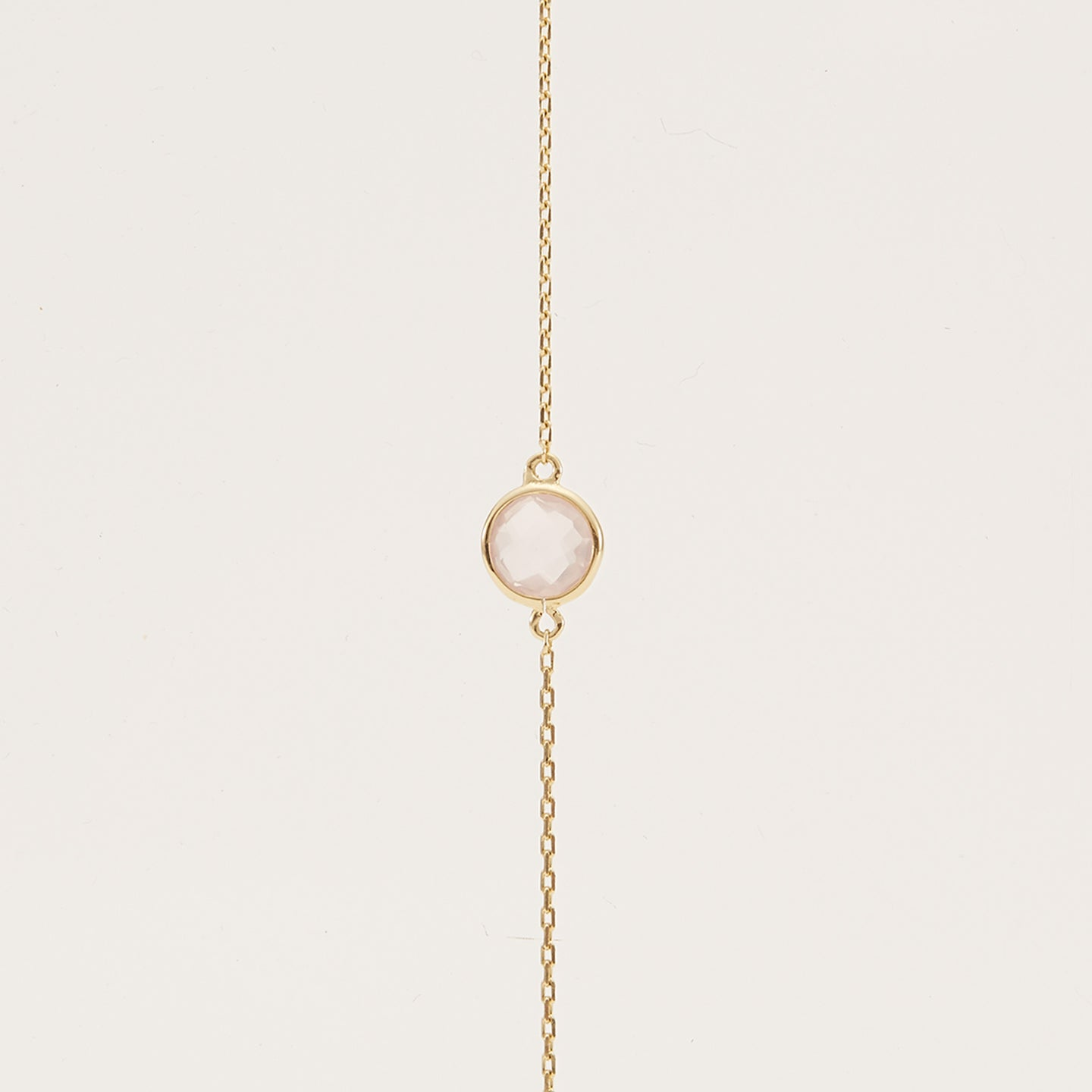 Gold Vermeil, Rose Quartz