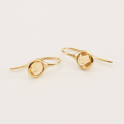 Sigrid Earrings - Citrine