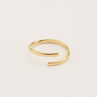 Siri Wrap Ring - Gold Vermeil / 5