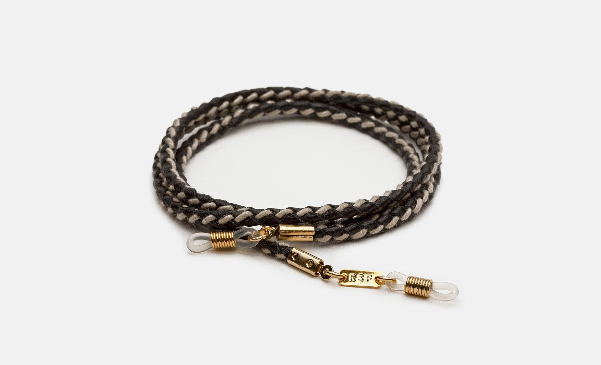 COTTON AND LEATHER BRAIDED CORD