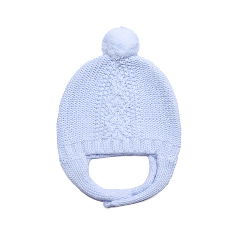 Angel Dear Cable Pilot Hat- Pale Blue