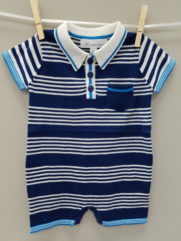 Polo Shortie- Nautical Blue