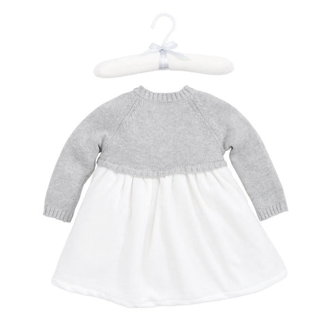 Elegant Baby Velour Holiday Sweater Dress