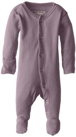 L'ovedbaby Organic Cotton Footed Overall- Lavender