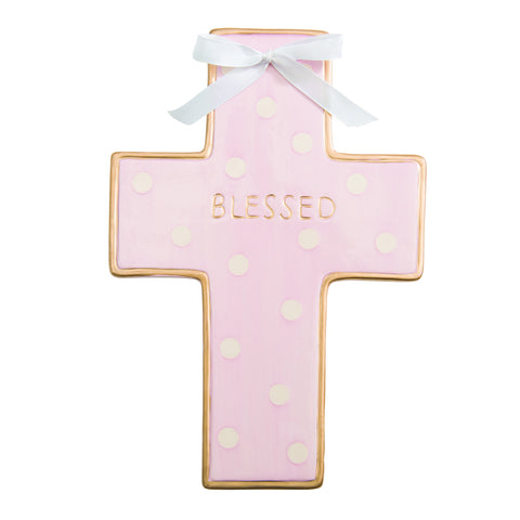 Elegant Baby Ceramic Cross-Multiple Colors- Cute as a Button Baby Boutique
