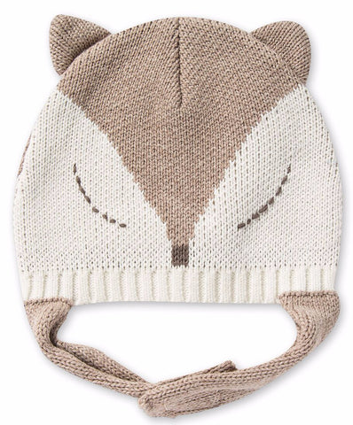 Angel Dear Intarsia Cable Pilot Hat- Fox Oatmeal