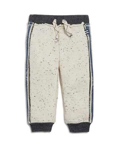 Splendid Speckled & Striped Jogger- Off White