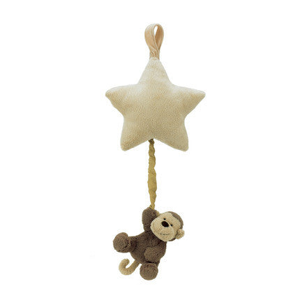 Jellycat Bashful Monkey Star Musical Pull Toy