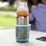 AQUAHEAT™ Bottle Warmer & 10oz Stainless Bottle- Cute as a Button Baby Boutique