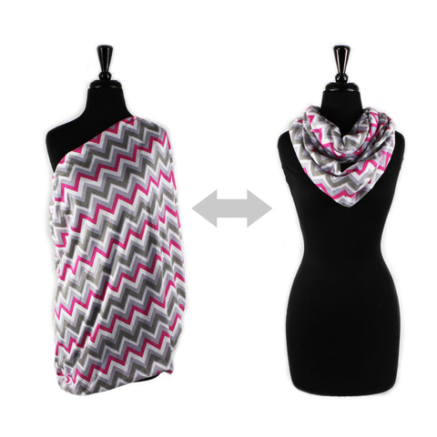 NURSING HAPPENS™ Infinity Breastfeeding Scarf- Pink Kiss- Cute as a Button Baby Boutique