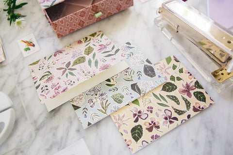 Lulie Wallace Falling Flowers Notecard Box Set