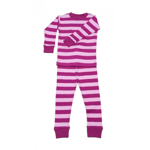 New Jammies Organic Cotton Mulberry Stripe Jammies- Multiple Sizes- Cute as a Button Baby Boutique