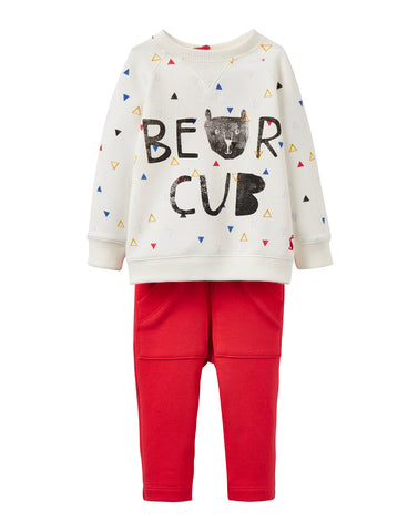 Joules Chris Sweatshirt Set- Bear